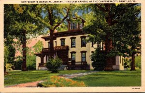 Virginia Danville Confederate Memorial Library 1937 Curteich