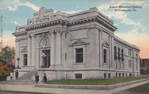 WILLIAMSPORT, Pennsylvania, PU-1918; Brown Memorial Library