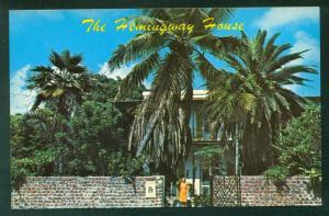 Key West ERNEST HEMINGWAY HOUSE Florida Vintage FL Palm Trees Postcard