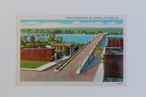 10812 Crossing Arkansas River into Oklahoma, Fort Smith, Arkansas 1950