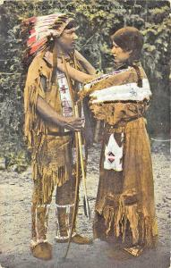 Native Americans Couple Indians Postcard