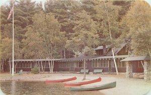 North Windham Maine Lodge Aimhi Postcard Sebago Lake Burgess Dexter 21-9575