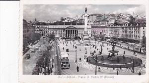 RP; Tinted, LISBOA, Portugal; Praca D. Pedro IV, Street Car, 30-50s