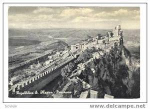 RP Repubblica S. Marino - Panorama, PU 1958