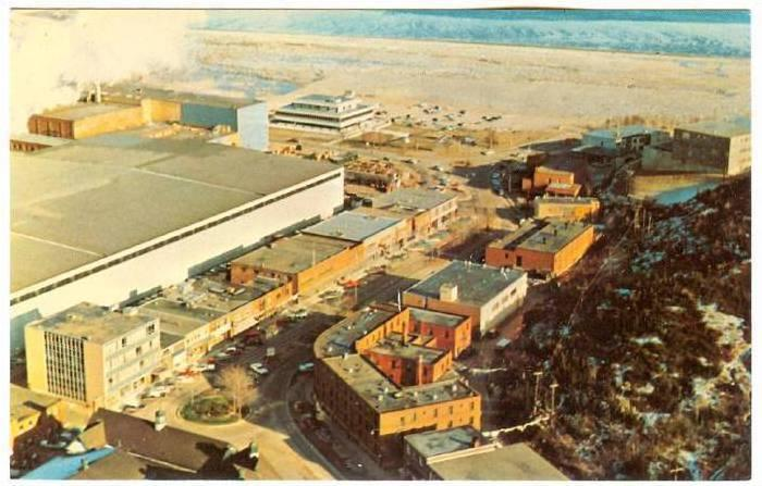Commercial Center,  Baie Comeau,  Quebec,  Canada,  40-60s