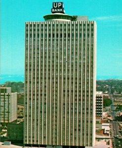 Vtg Cromo Tarjeta Postal Memphis Tennessee Una Cien Norte Principal Edificio Unp