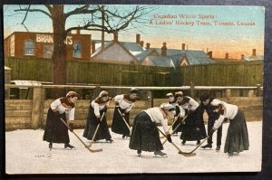 Mint Canada Color Picture Postcard A Ladies Hokey Team Toronto