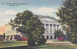 North Carolina Raleigh Memorial Auditorium Curteich