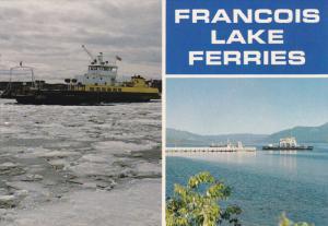 Francois Lake Ferry, Winter Scene, FRANCOIS LAKE, British Columbia, Canada, 5...