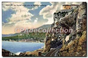 Postcard Menton Old Tunnel Red To The Border Italian