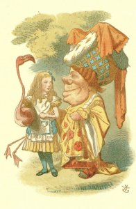 Alice In Wonderland The Duchess Nursery 1890 Victorian Book Postcard