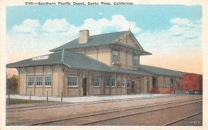 F81/ Santa Rosa California Postcard c1910 Southern Pacific Railroad Depot