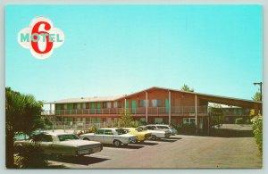 Phoenix Arizona~Motel 6~Swimming Pool~1970s Station Wagon~Yellow Sports Car~PC