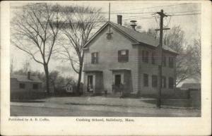 Salisbury MA Cushing School c1910 Postcard