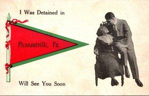 Pennsylvania Pleasantville Romantic Couple 1910 Pennant Series