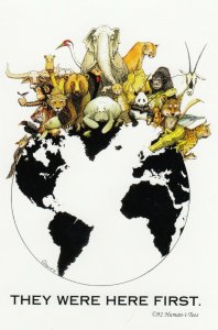 They were here first , 1982 ; Animals on Globe