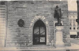 Switzerland Geneve - Monument Philibert Berthefier, statue 1911