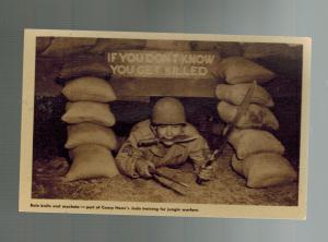 Mint RPPC Real Picture Postcard US ARMY Camp Haan CAlifornia Base Korea War