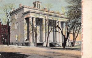 RICHMOND VA-DAVIS MANSION~WHITE HOUSE OF CONFEDERACY POSTCARD 1900s