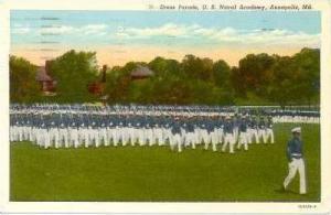 Dress Parade, U.S. Naval Academy, Annapolis, Maryland, PU-1956
