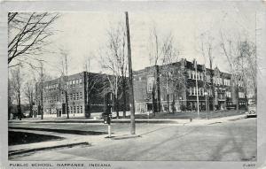 Nappanee Indiana~Public School~US Corner Mailbox~1947 Silver Border