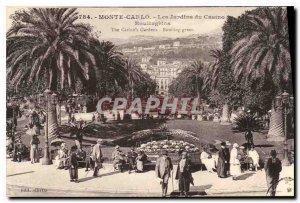 Old Postcard Monte Carlo Casino Gardens Roulingrins