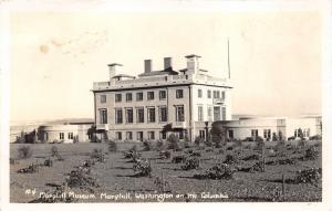 Maryhill Washington~Maryhill Museum of Art~Garden in Foreground~1940s RPPC
