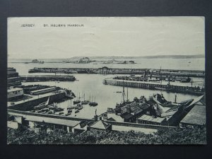 Isle of Jersey ST. HELIER'S HARBOUR c1920's Postcard