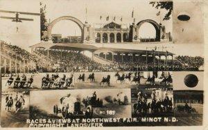 RP: MINOT , North Dakota ,1900-10s ; Northwest Fair Races