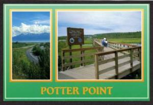 AK POTTER POINT State Game Refuge ALASKA Postcard PC
