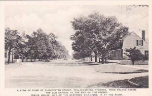Virginia Williamsburg A View Of Duke Of Gloucester Street  Albertype