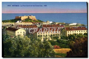 Postcard Old Antibes Fort Carre and Barracks