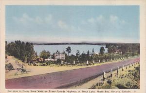 Entrance to Camp Bona Vista, Trans-Canada Highway , Trout Lake , NORTH BAY , ...