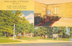Petersburg Virginia Pine Acres Cottages Multiview Antique Postcard K20768