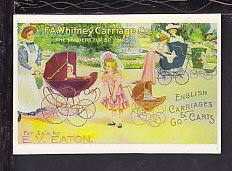 Whitney Carriage Co Reproduction Postcard BIN