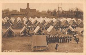 Great Lakes Navy Parade Grounds Tents Antique Postcard K7876552