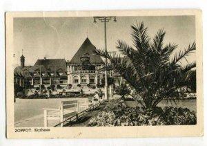 401598 POLAND Zoppot Danzig freie stadt 1938 year RPPC ESTONIA