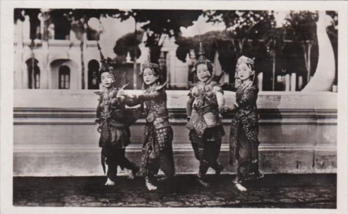 Cambodia Indo-Chine Angkor Danseuses Cambodgiennes Local Dancers Real Photo