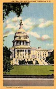 Washington D C United States Capitol West View Curteich