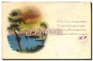Old Post Card Landscape