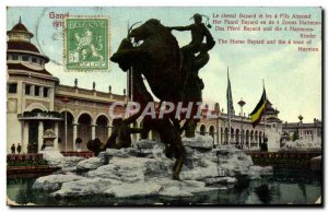 Old Postcard Ghent 1913 Horse Bayard and 4 son Aimond