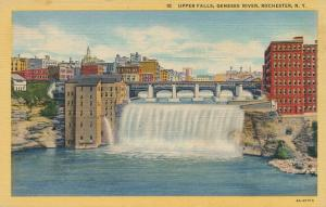 Upper Falls of the Genesee River - Rochester, New York - Linen