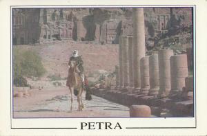 Jordan Petra ethnic type camel postcard