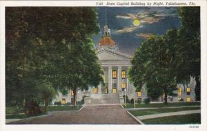 State Capitol Building By Night Tallahassee Florida