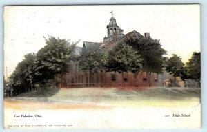 EAST PALESTINE, Ohio OH ~ HIGH SCHOOL 1908 Columbiana County  Postcard