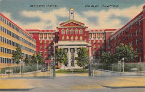 New Haven Hospital, New Haven, Connecticut, Early Linen Postcard, Unused