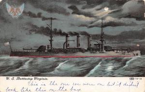 US Battleship Virginia at Night~Moon~One We Were On~Looks Bigger Than This~IPCC