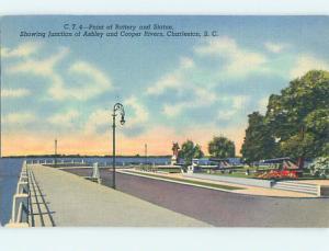 Linen ROAD OR STREET SCENE Charleston South Carolina SC hJ5967