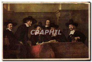 Old Postcard Rembrandt Staalmeesters The Trustees Drapers