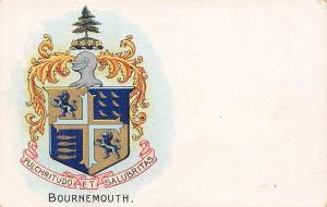 Bournemouth~Coat of Arms~Pulchristudo et Salubritas~Silver Knight~Fish~Lion~1908